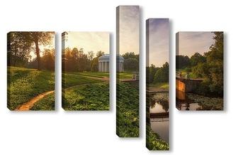 Модульная картина Вечер в Павловском парке