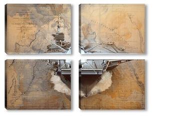 Модульная картина Авиационная база