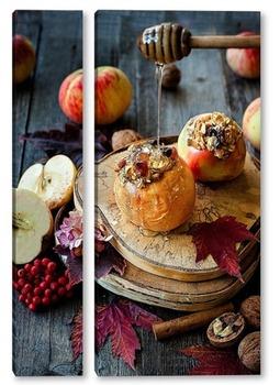 Модульная картина Печенные яблоки