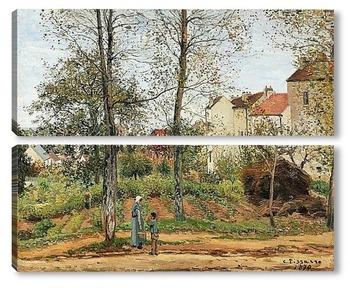 Модульная картина Пейзаж в Лувесьенне