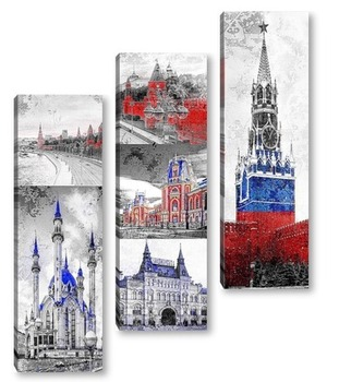 Модульная картина Тур по России