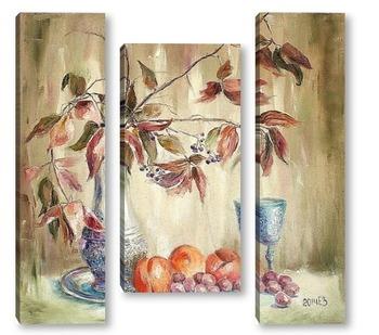 Модульная картина Натюрморт с персиками