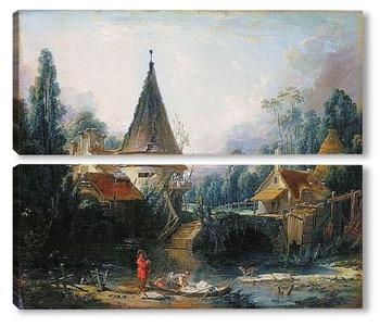 Модульная картина Пейзаж в окрестностях Бовэ