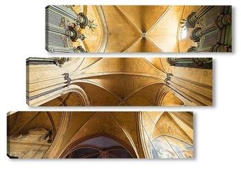 Модульная картина Своды собора святого спасителя
