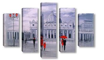 Модульная картина Прогулка в Риме