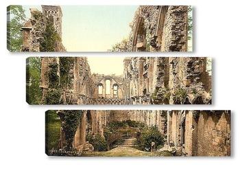 Модульная картина Аббатство, Гластонбери, Англия. 1890-1900 гг