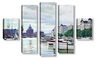 Модульная картина Северный Берег, Хельсинки, Финляндия