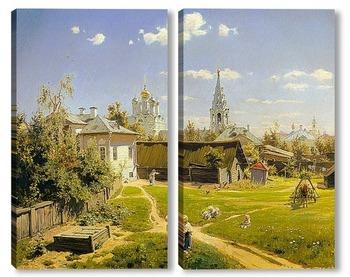 Модульная картина Московский дворик