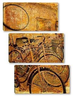 Модульная картина Ретро велосипеды
