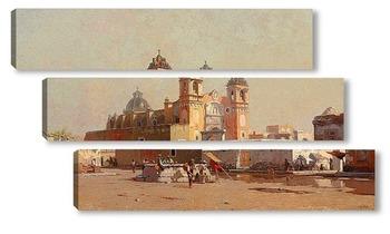 Модульная картина Церковь Санта-Анна в Мексике, 1885