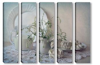 Модульная картина Утро с запахом ванили