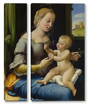 Модульная картина Мадонна Гвоздики (La Мадонна деи Garofani)