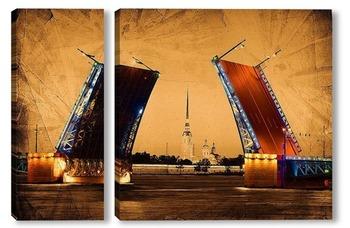Модульная картина Разводные мосты