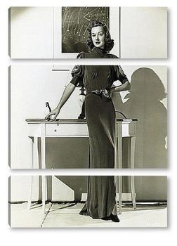 Модульная картина Энн Ширли демонстрирующая новое платье,1937г.