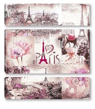 Модульная картина Прекрасный Париж
