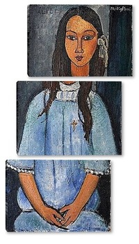 Модульная картина Алиса