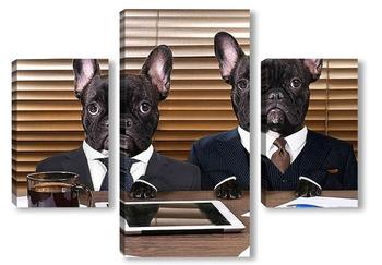 Модульная картина Собаки в черном
