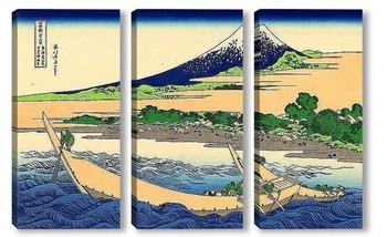 Модульная картина . Берег Тагоноура  в Эдзири , тракт Токайдо