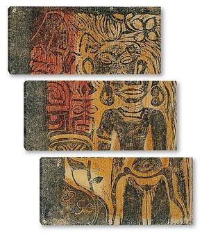 Модульная картина Таитянский идол, 1894-95