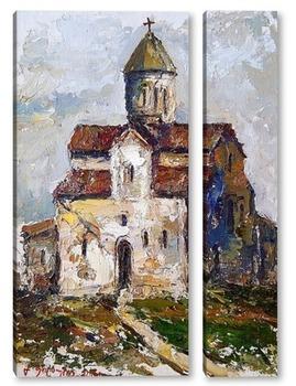 Модульная картина Старая церковь