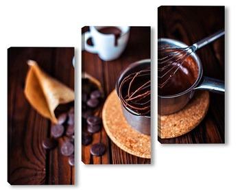 Модульная картина Горячий шоколад