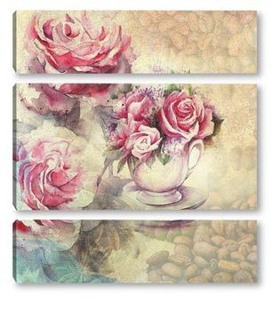 Модульная картина Сашка с розами