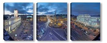 Модульная картина а с платформы говорят это город Ленинград