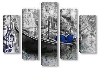 Модульная картина Гондола на воде