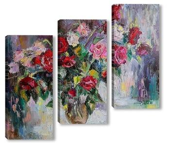 Модульная картина Весенние розы