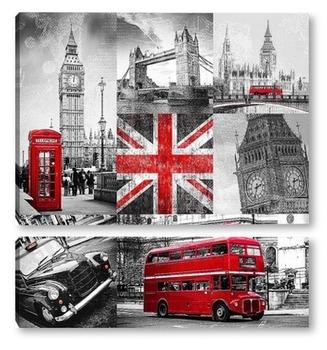 Модульная картина Прогулка по Лондону