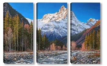 Модульная картина Домбай, гора Белалакая
