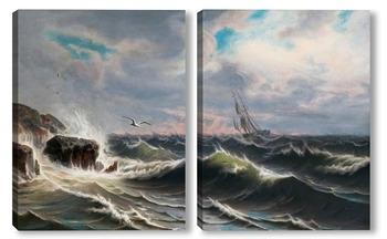 Модульная картина Чайка над морем