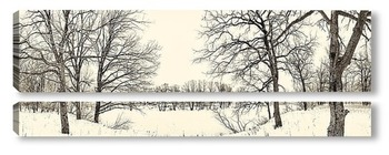 Модульная картина зима 4