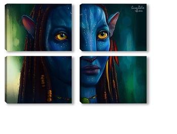 Модульная картина Аватар. Найтири