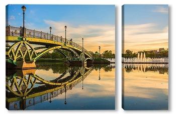 Модульная картина Мост в Царицыно на закате дня
