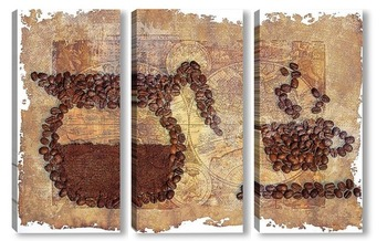 Модульная картина Картина из зерен кофе
