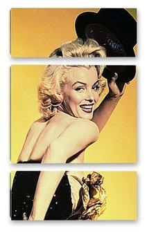 """Модульная картина Монро в фильме""""Джентельмены предпочитают блондинок""""."""