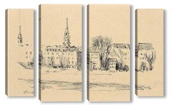 Модульная картина Дрезден