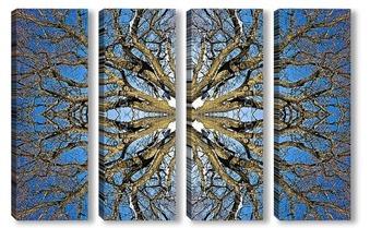 Модульная картина Небеса- Шива