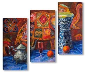 Модульная картина Мароканский натюрморт