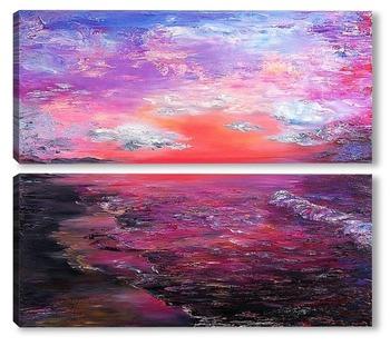 Модульная картина Любовь, закаты и рассветы