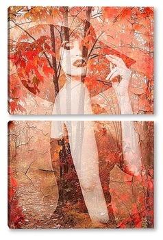 Модульная картина Элегантная осень