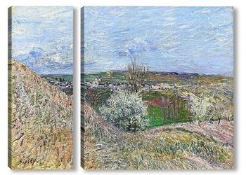Модульная картина У холмов Санкт-Маммес весной