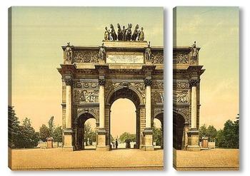 Модульная картина Триумфальная арка, Париж, Франция.1890-1900 гг
