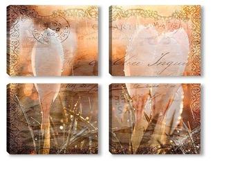 Модульная картина Весенние подснежники