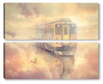 Модульная картина Ретро поезд