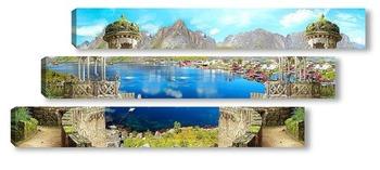 Модульная картина Панорама гор