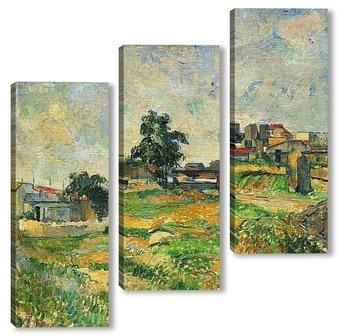 Модульная картина Пейзаж возле Парижа, 1876