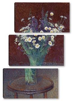 Модульная картина Ваза с маргаритками