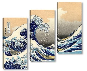 Модульная картина Большая волна
